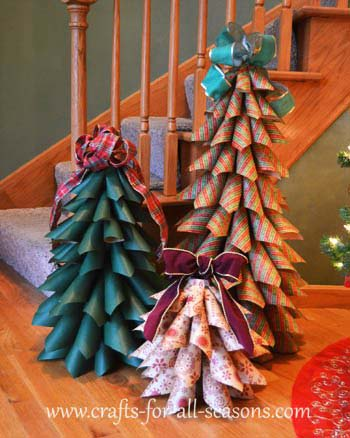 Paper Cone Christmas Trees #Christmas #tree #crafts #decorhomeideas