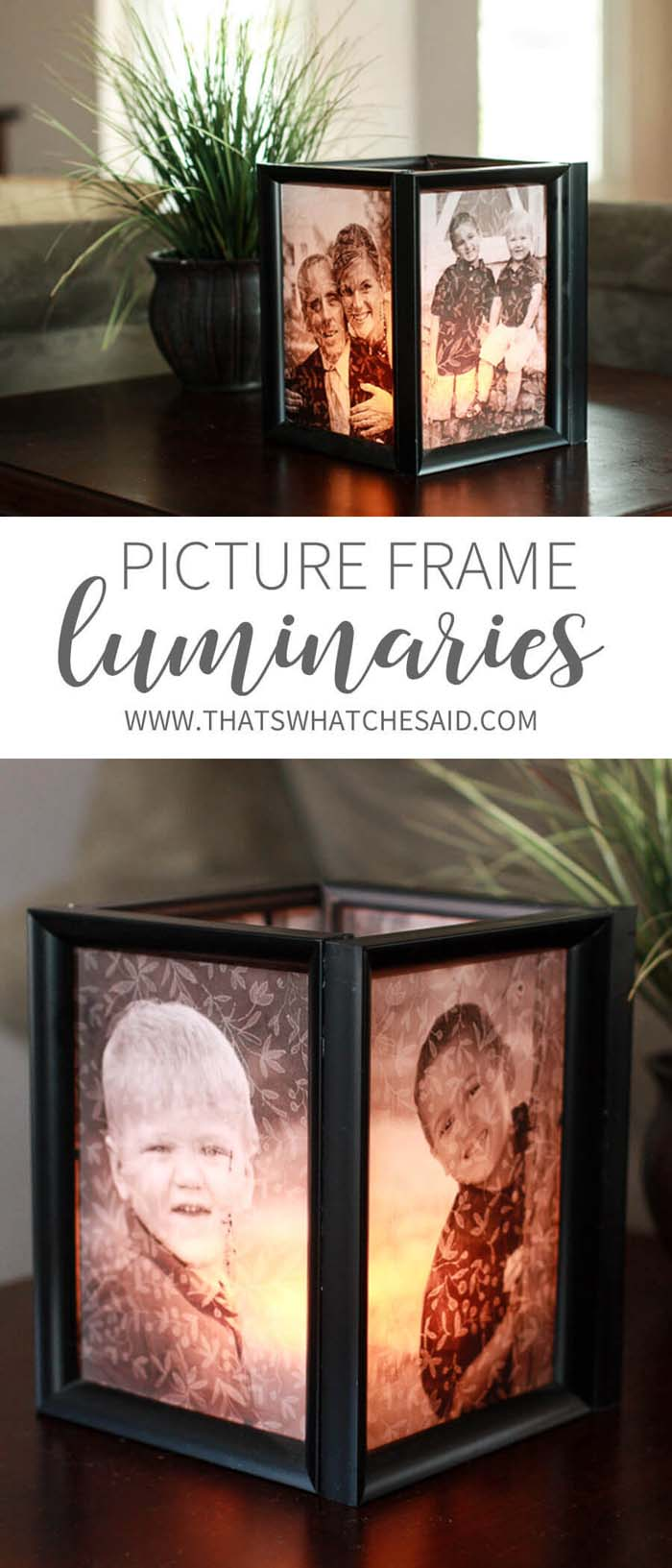 Picture Frame Luminaries #dollarstore #diy #homedecor #decorhomeideas