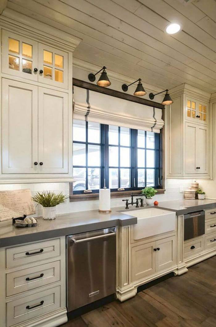 Rustic and Modern Cabinets with Farmhouse Flair #farmhouse #kitchen #cabinet #decorhomeideas