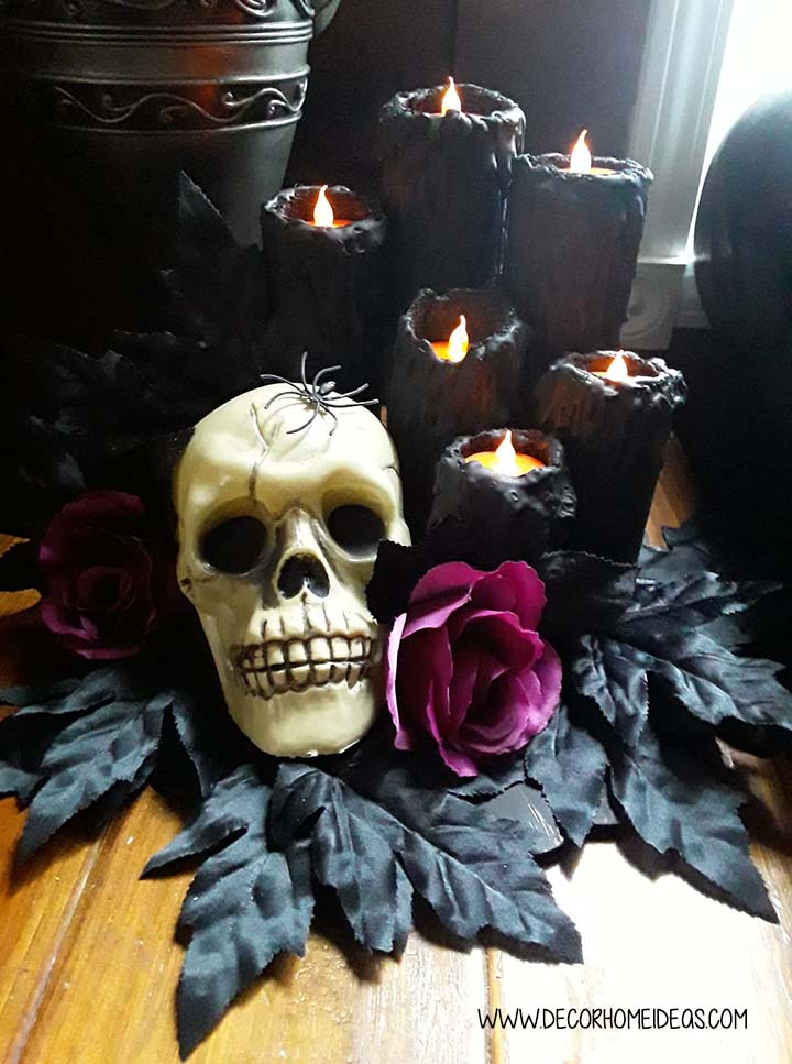Skull And Rose Halloween Decor Pool Noodles