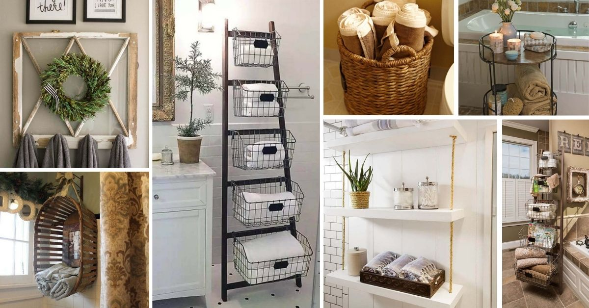 Space Saving Towel Storage Ideas Bathroom