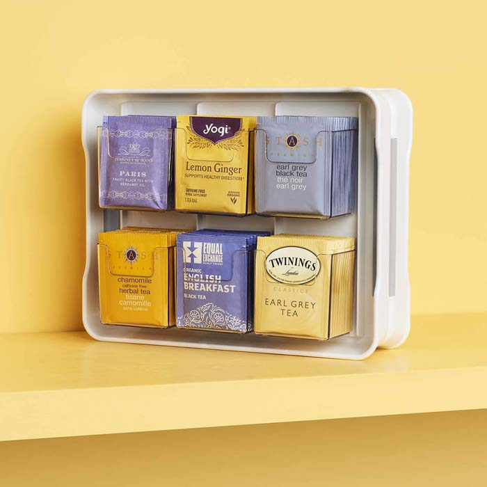 Tea Bag Holder and Display Case #smallkitchen #storage #organization #decorhomeideas