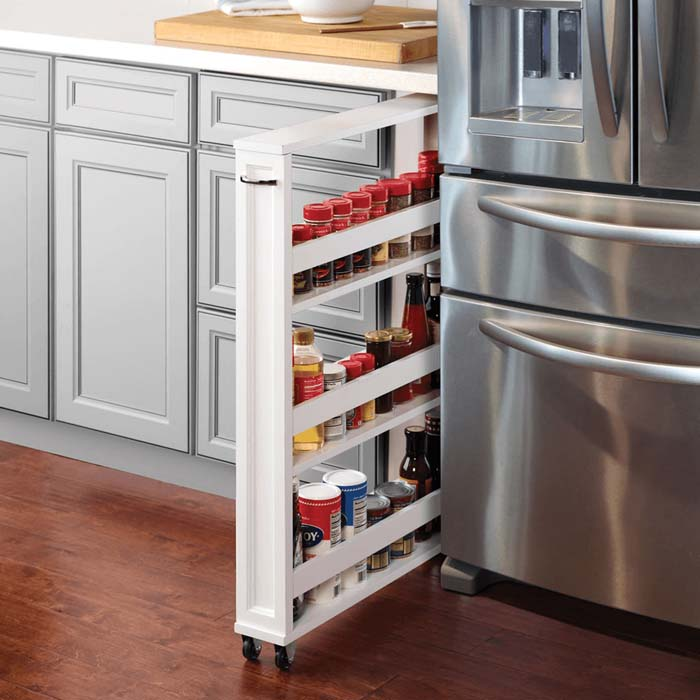 The Tight Space Kitchen Pantry #smallkitchen #storage #organization #decorhomeideas