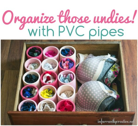 Organize Underwear In Pvc Pipes #organization #storage #home #decorhomeideas