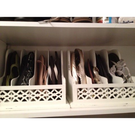 Use A Letter Organizer For Your Flip Flops And Sandals #organization #storage #home #decorhomeideas
