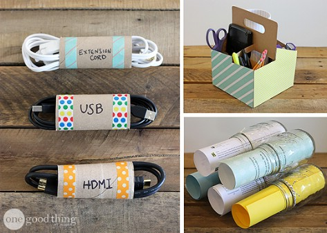 Put Your Cords Inside Toilet Paper Tubes #organization #storage #home #decorhomeideas