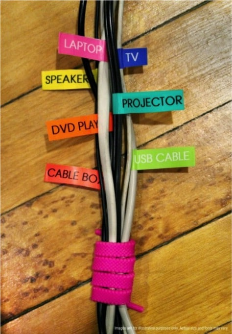 Label Your Cords #organization #storage #home #decorhomeideas