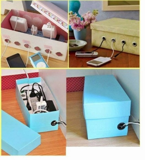 Neatly Conceal Your Power Cord In A Shoebox #organization #storage #home #decorhomeideas