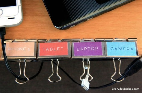Run Your Cords Through Binder Clips #organization #storage #home #decorhomeideas