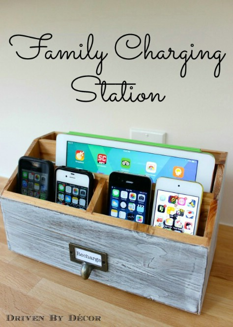 Create A Family Charging Station #organization #storage #home #decorhomeideas