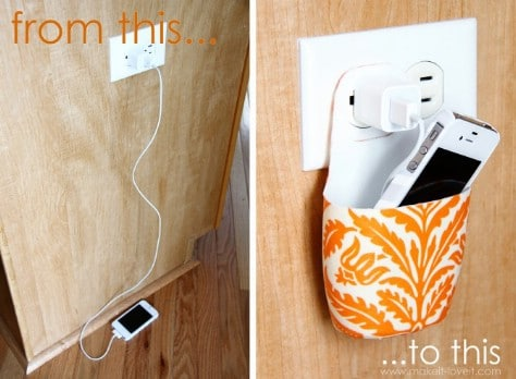 Turn A Used Lotion Bottle Into A Beautiful Holder For Charging A Cell Phone #organization #storage #home #decorhomeideas