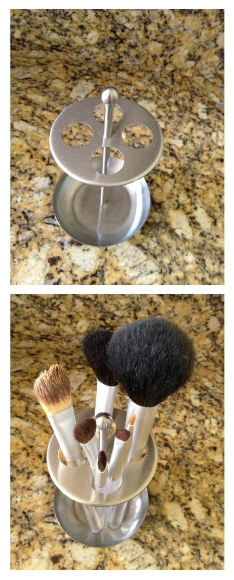 Store Makeup Brushes In A Toothbrush Holder #organization #storage #home #decorhomeideas