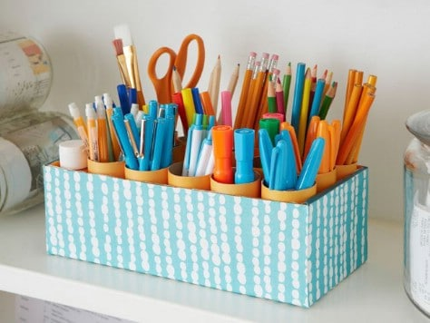 Use A Shoe Box And Toilet Paper Rolls #organization #storage #home #decorhomeideas