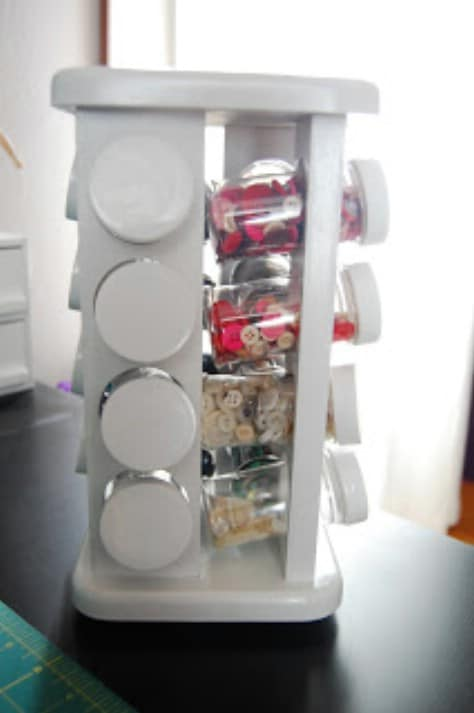 Use A Spice Rack Holder For Craft Supplies #organization #storage #home #decorhomeideas