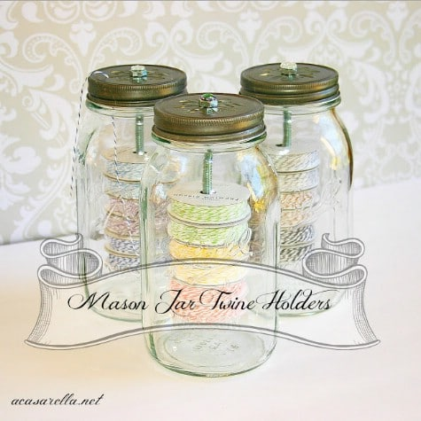 Put Twine In A Mason Jar #organization #storage #home #decorhomeideas