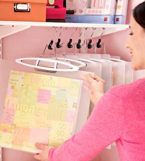 Hang Your Scrapbooking Supplies In A Closet #organization #storage #home #decorhomeideas