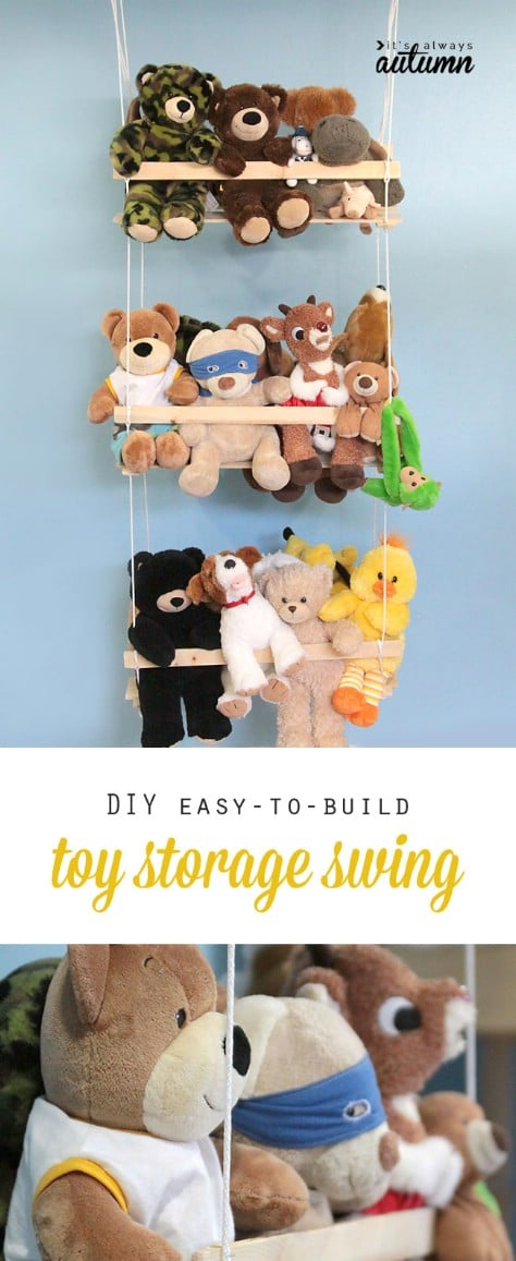Build A Plush Animal Swing #organization #storage #home #decorhomeideas