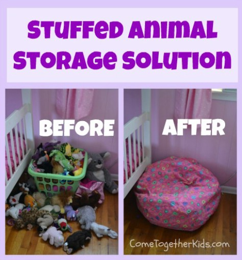 Store Plush Animals In A Bean Bag Cover #organization #storage #home #decorhomeideas
