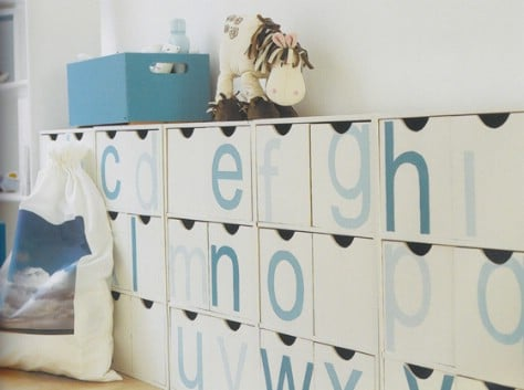 Label Cubbies Or Bins With Letters So Children Can Learn #organization #storage #home #decorhomeideas
