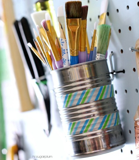 Recycle Your Tin Cans #organization #storage #home #decorhomeideas