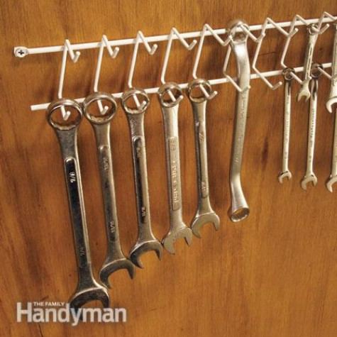 Use A Belt Rack For Your Wrenches #organization #storage #home #decorhomeideas