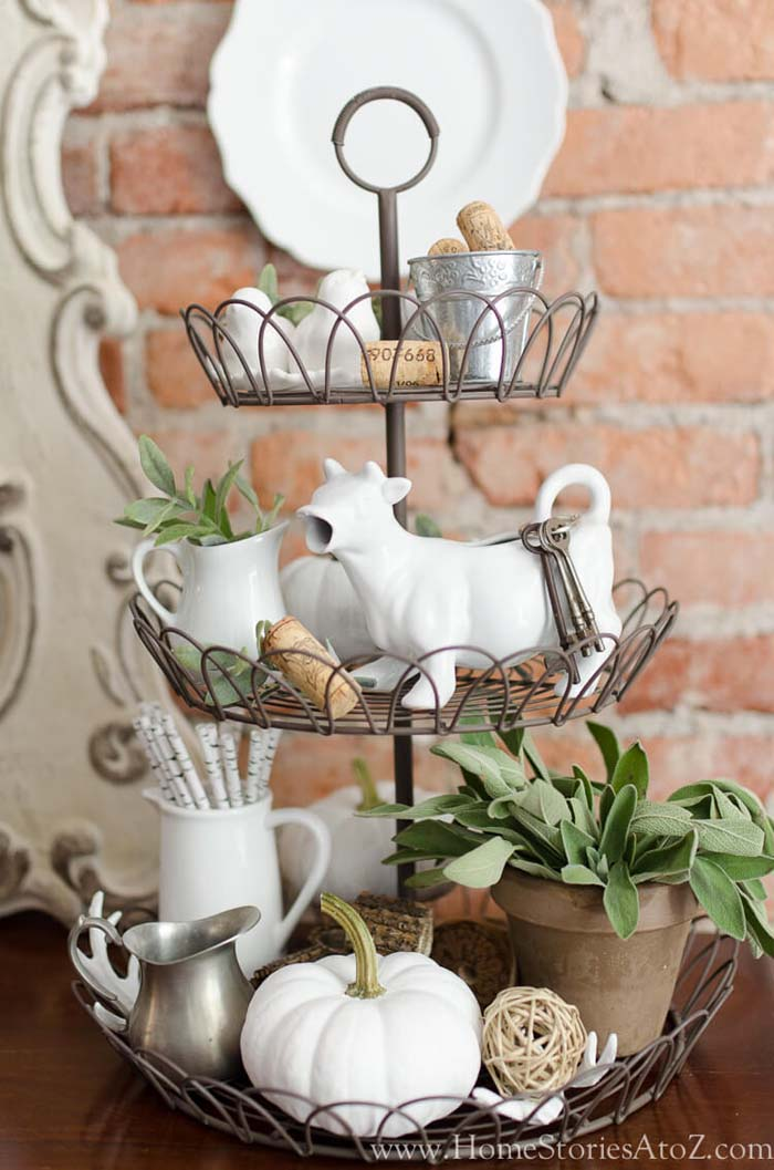 A Wire Tidbit Tray Full of Whimsy #farmhouse #furniture #decorhomeideas