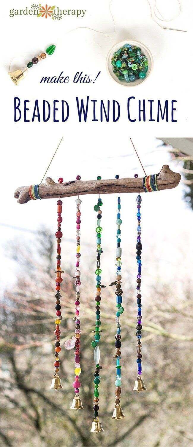 Beaded Bough Wind Chime #branches #homedecor #decorhomeideas
