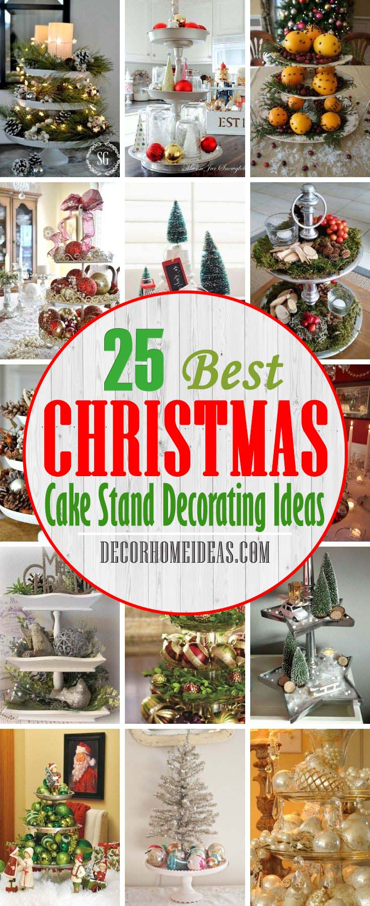 Best Christmas Cake Stand Decorating Ideas. One of the key attractions of the Christmas celebrations is the cake and their embellishments. To make your Christmas cake look amazing, following Christmas cake stand designs can be attempted. #decorhomeideas