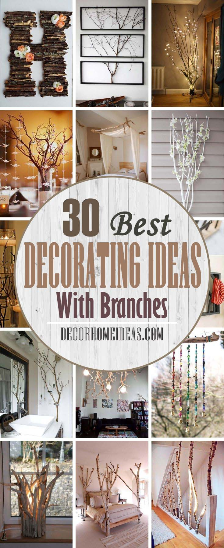 Best Decorating Ideas With Branches. Tree branches are popular interior decorations as they have some advantages - they are free and you can arrange them the way you like. Here are some fantastic ideas to decorate your home and incorporate nature in your interior. #decorhomeideas
