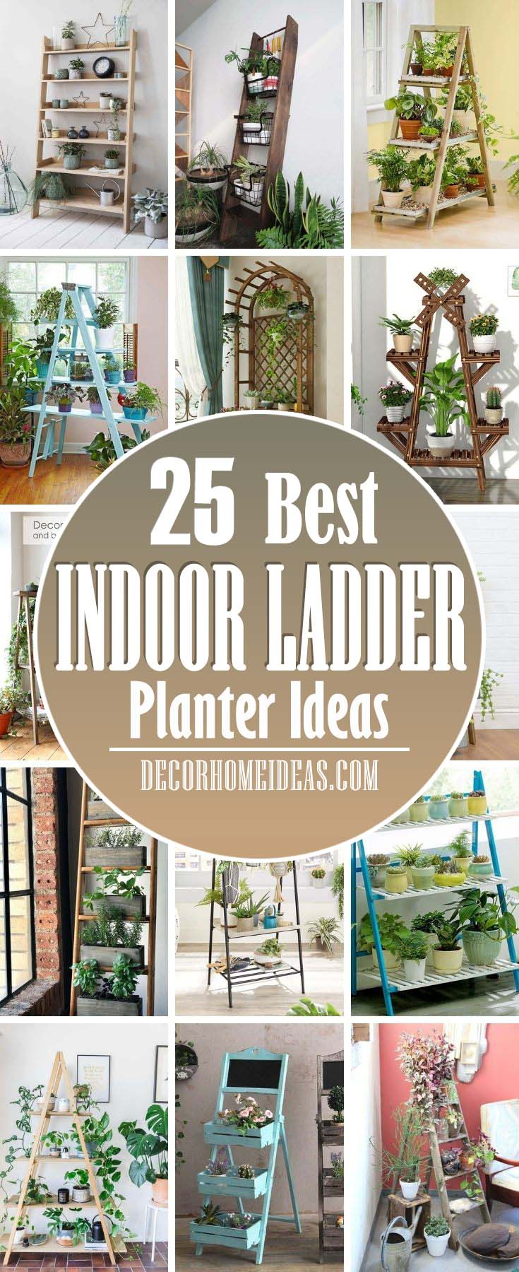 Best Indoor Ladder Planter Ideas. These ladder planters would make a super beautiful vertical garden for any of your particular space and will also be a smart way to shift garden greenery to your indoor spaces. #decorhomeideas