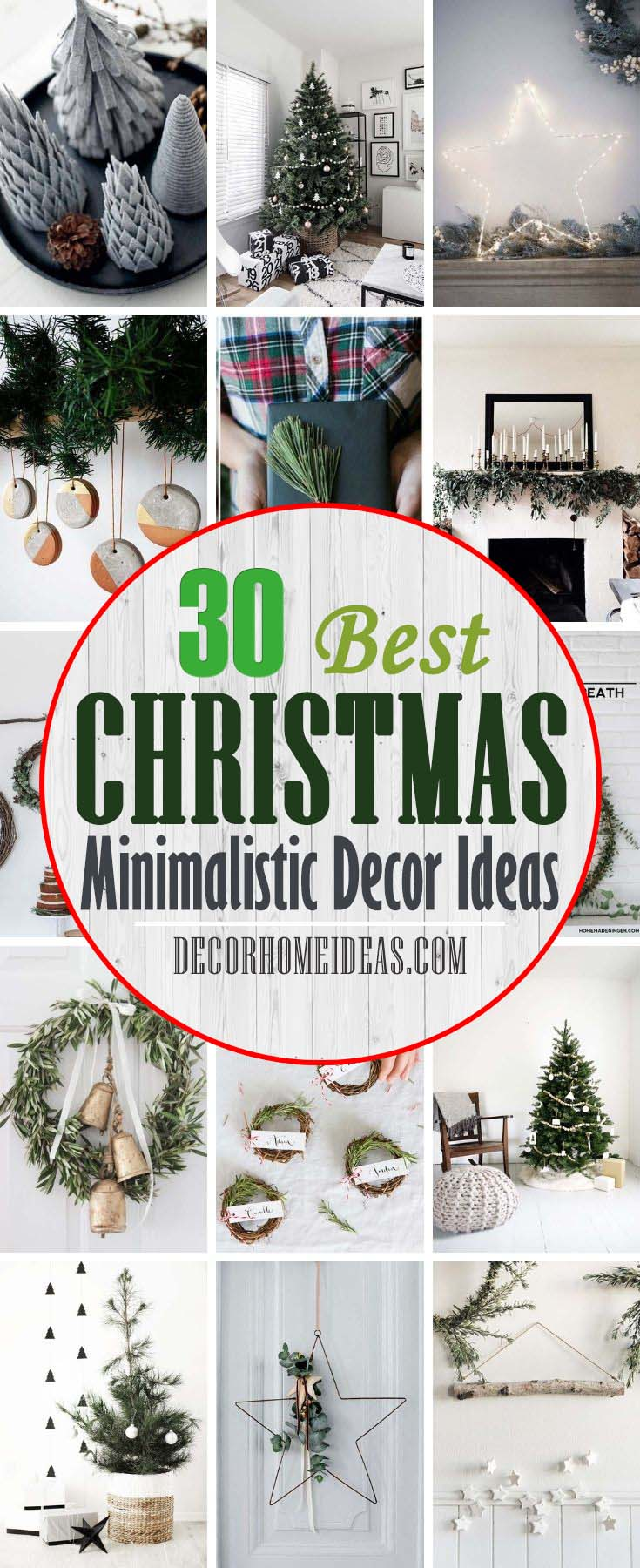 Best Minimalistic Christmas Decor Ideas. Holiday cheer can come in small doses — but still make a big impact. Take a look at these simply adorable minimalistic Christmas decor ideas that will inspire your for this holiday season. #decorhomeideas