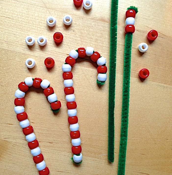 Candy Cane Ornaments #Christmas #ornaments #kids #diy #decorhomeideas