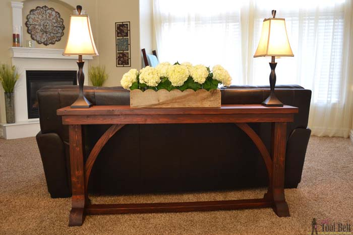 Cathedral Arch Wooden Sofa Table #sofatable #decorhomeideas