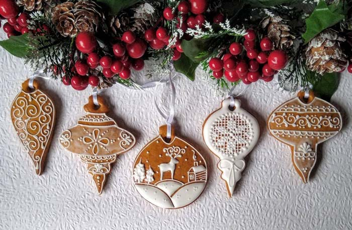 Christmas Bauble Gingerbread #Christmas #ornaments #rustic #decorhomeideas