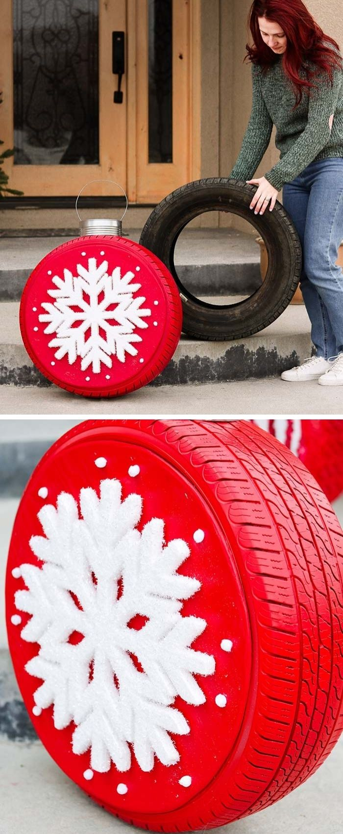 Christmas Tire Ornaments