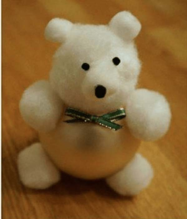 Cute Bear Ornament #Christmas #ornaments #kids #diy #decorhomeideas