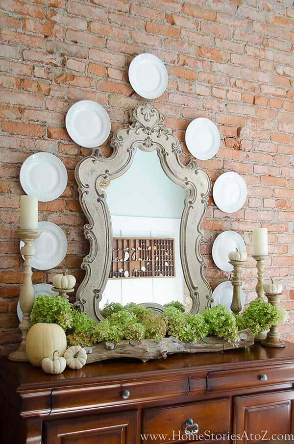 Elegant Buffet Against Contrasting Exposed Brick Wall #frenchcountry #decor #decorhomeideas