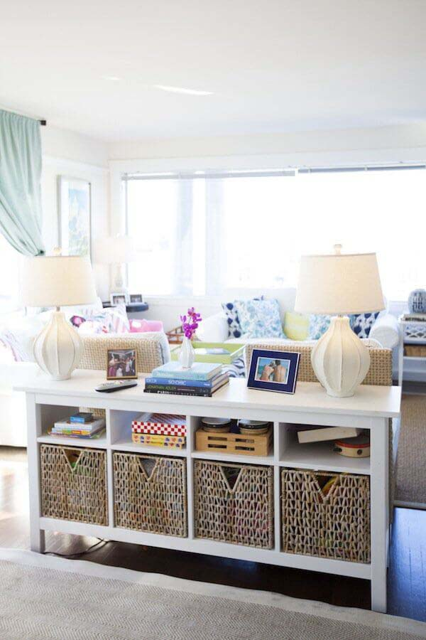 Ever-The-Organizer Sofa Table #sofatable #decorhomeideas