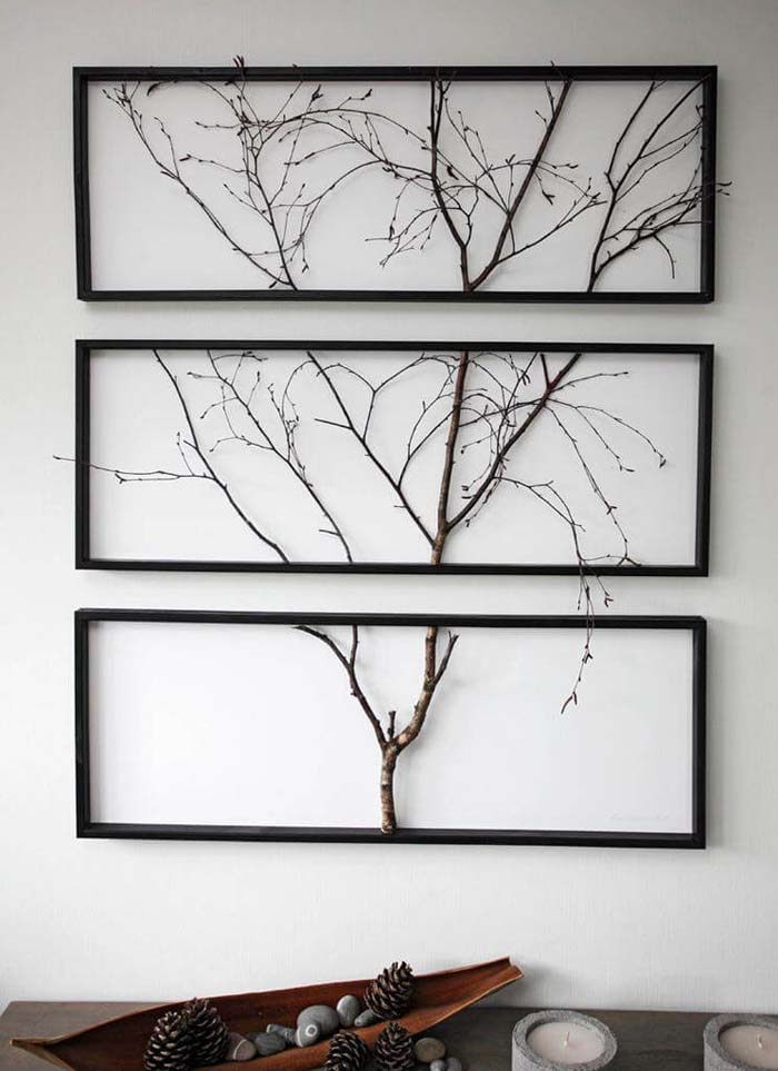 Gallerist's Walk Sectioned Wall Mount #branches #homedecor #decorhomeideas