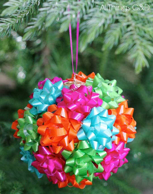 Gift Bow Ornament #Christmas #ornaments #kids #diy #decorhomeideas
