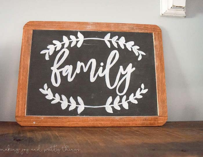 Hand-painted School Chalkboard Family Sign #farmhouse #furniture #decorhomeideas