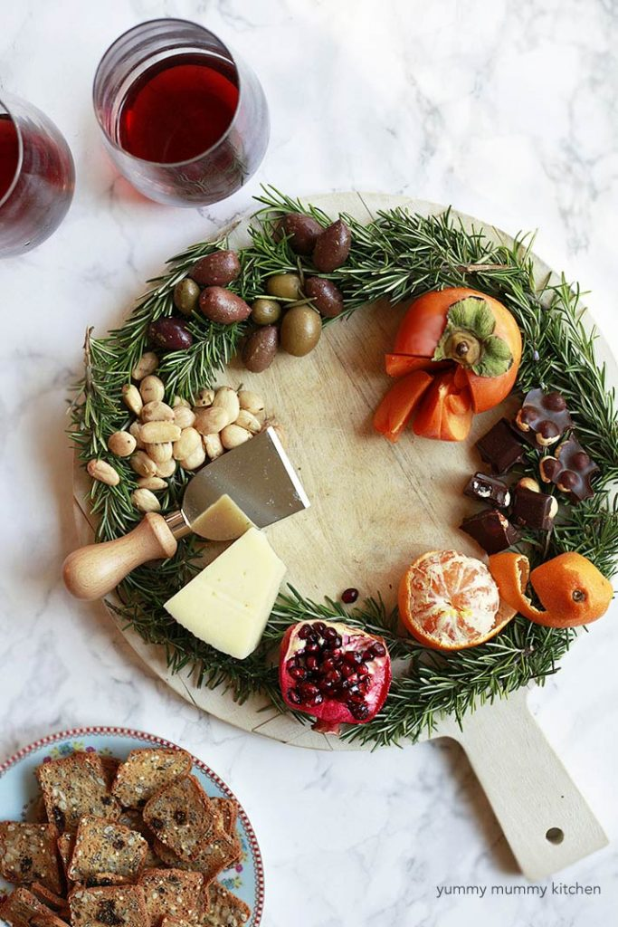 Holiday Wreath Cheese Platter