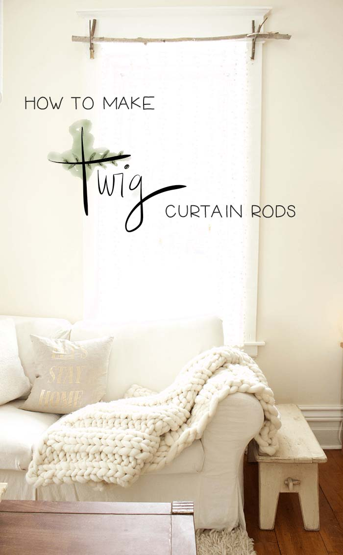 How To Make Twig Curtain Rod #branches #homedecor #decorhomeideas