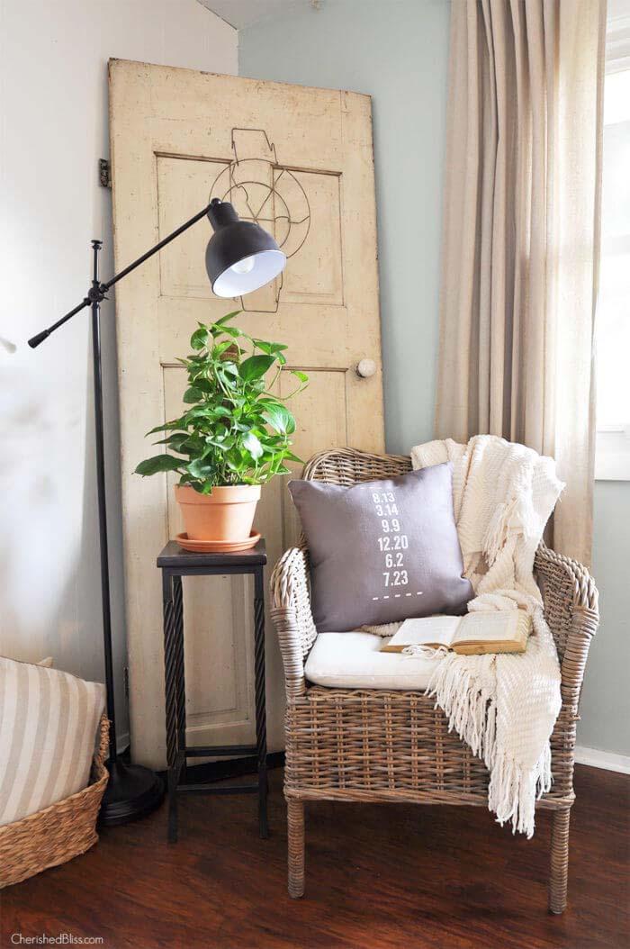 Ideal Space for Reading Romances #farmhouse #furniture #decorhomeideas
