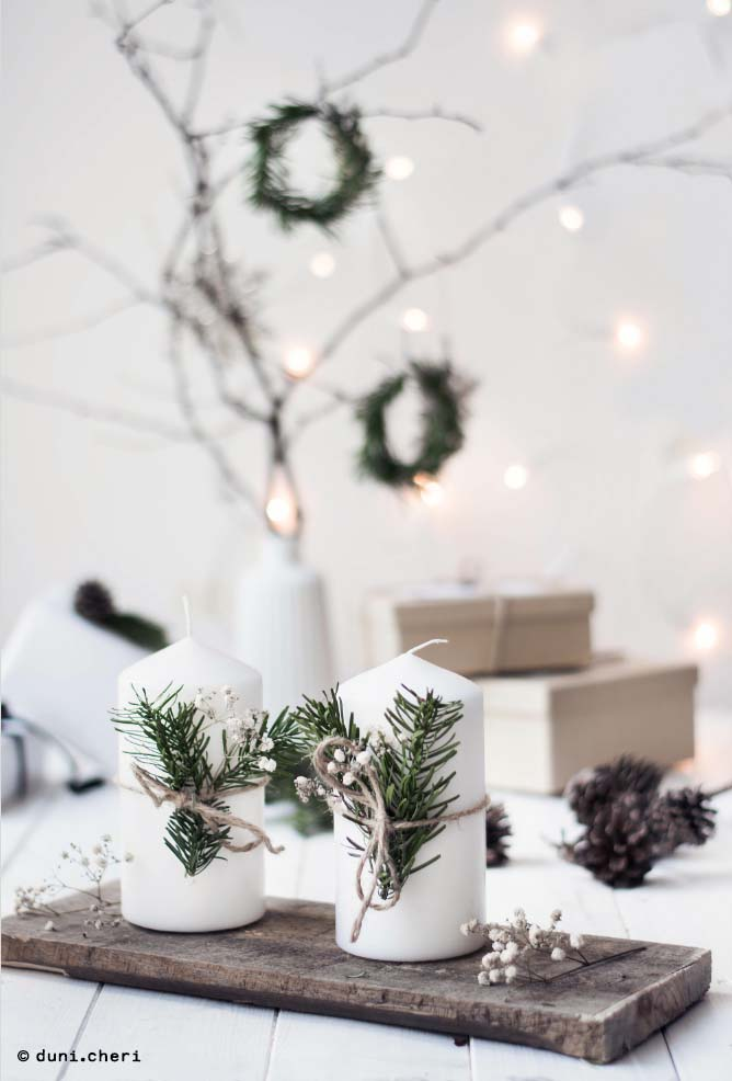 Leafy Branches for Decor #Christmas #minimalist #decor #decorhomeideas