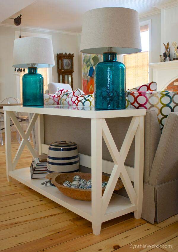 Long Island Crosshatch Sofa Table #sofatable #decorhomeideas