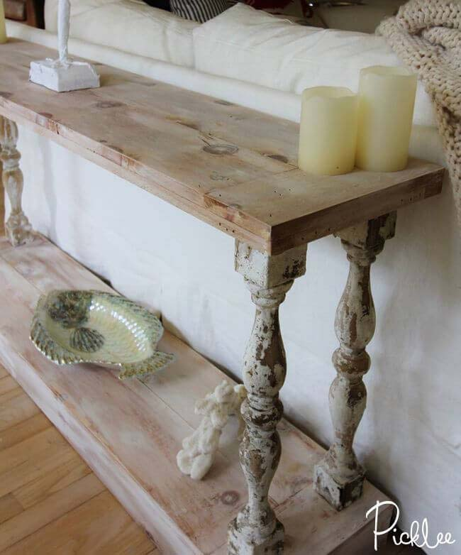 Melville Estate Style Sofa Table #sofatable #decorhomeideas