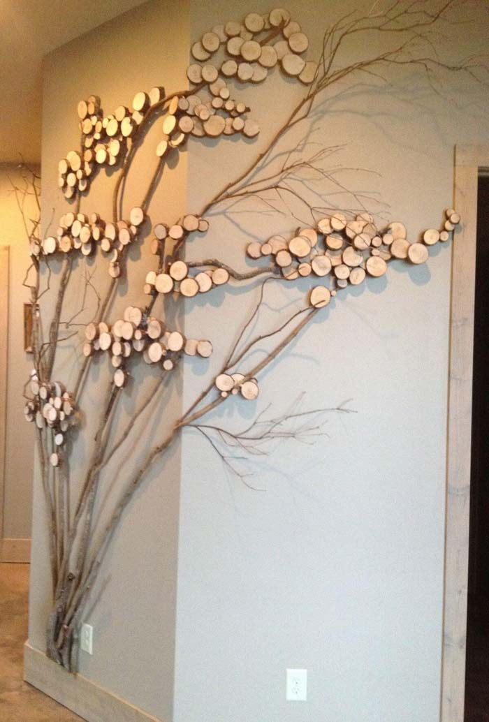 Metropolitan Orchard DIY Wall Art #branches #homedecor #decorhomeideas