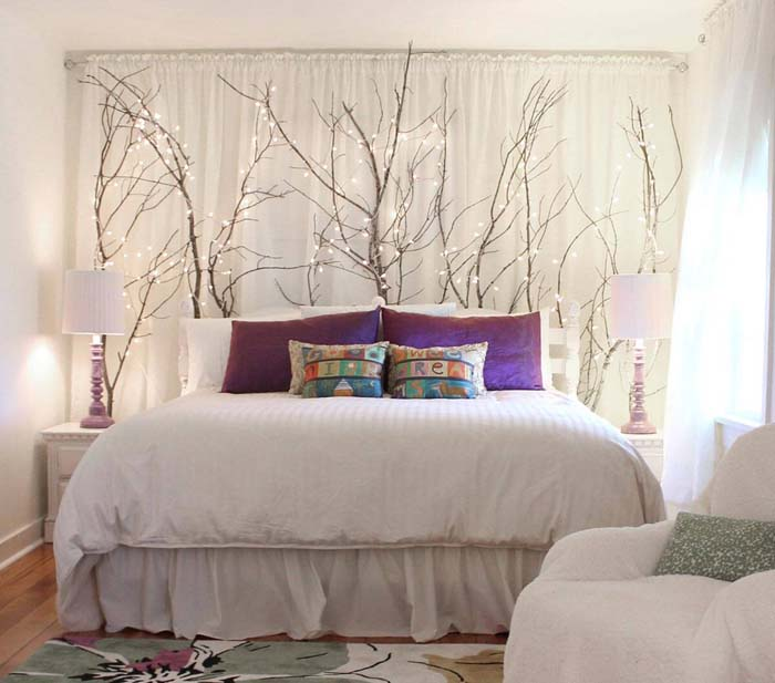 Midsummer Fairy Light Forest #branches #homedecor #decorhomeideas