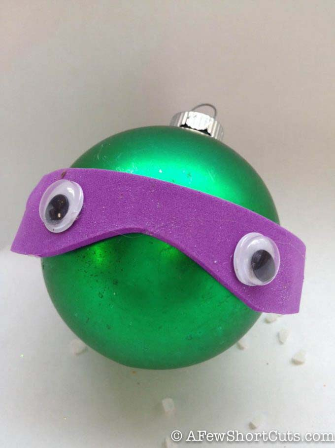 Ninja Turtle Ornament #Christmas #ornaments #kids #diy #decorhomeideas